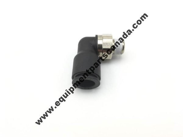"""MALE ELBOW PUSH TO CONECT AIR FITTING. 3/8"""" PUSH LOCK - 1/8"""" NP TREAD"""