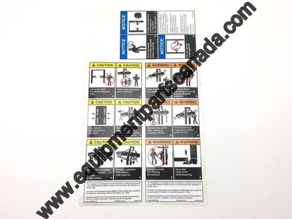 2 POST SAFETY DECALS OEM ALI/WL101