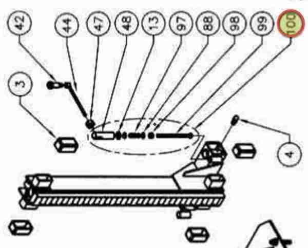 WHEELTRONIC ARM RESTRAINT ASSEMBLY OEM 2-1129