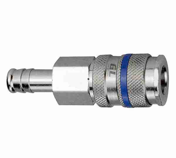 1/4 INCH PREMIUM HIGH-FLOW INDUSTRIAL COUPLER WITH 3/8 INCH HOSE BARB OEM VARIOUS