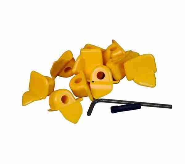 PROTECTIVE PLASTIC UPPER INSERTS KIT (10-PACK) FOR STEEL MOUNT / DEMOUNT HEAD OEM 8-11100106