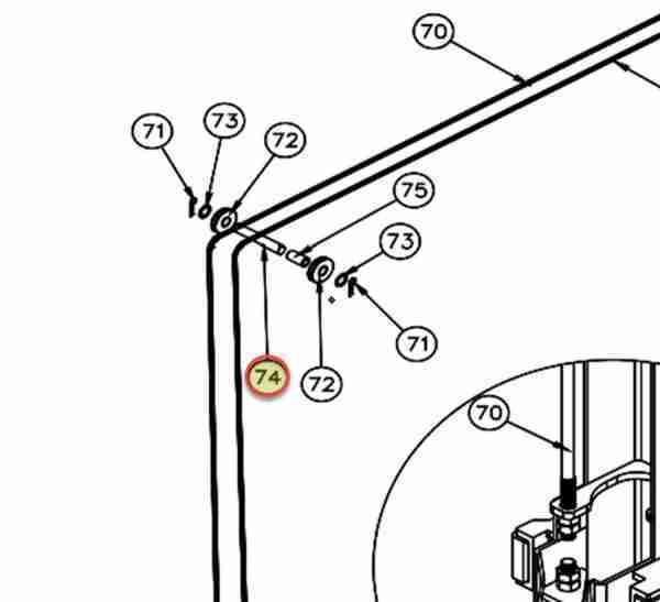 WHEELTRONIC CABLE SHEAVE PIN OEM JSJ6-03-03