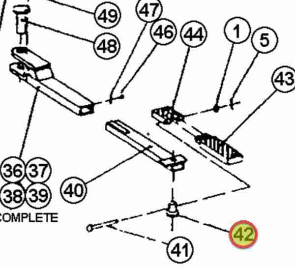"WHEELTRONIC ADAPTER PIN 1-1/4"" X 1-5/8"" LONG OEM 1-1091"