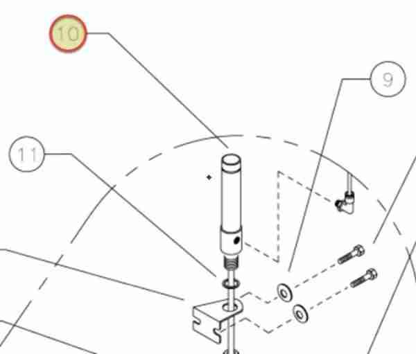 WHEELTRONIC AIR CYLINDER 3/4 BX(1.00) STROKE OEM 6-3111