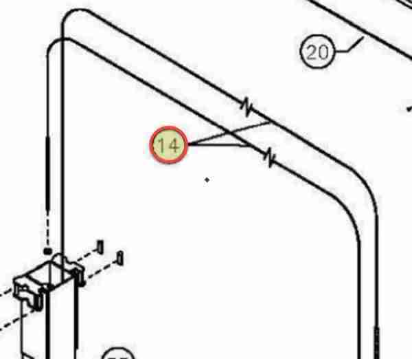 3/8 INCH DIAMETER WIRE ROPE 464 INCH LG OEM 6-3118