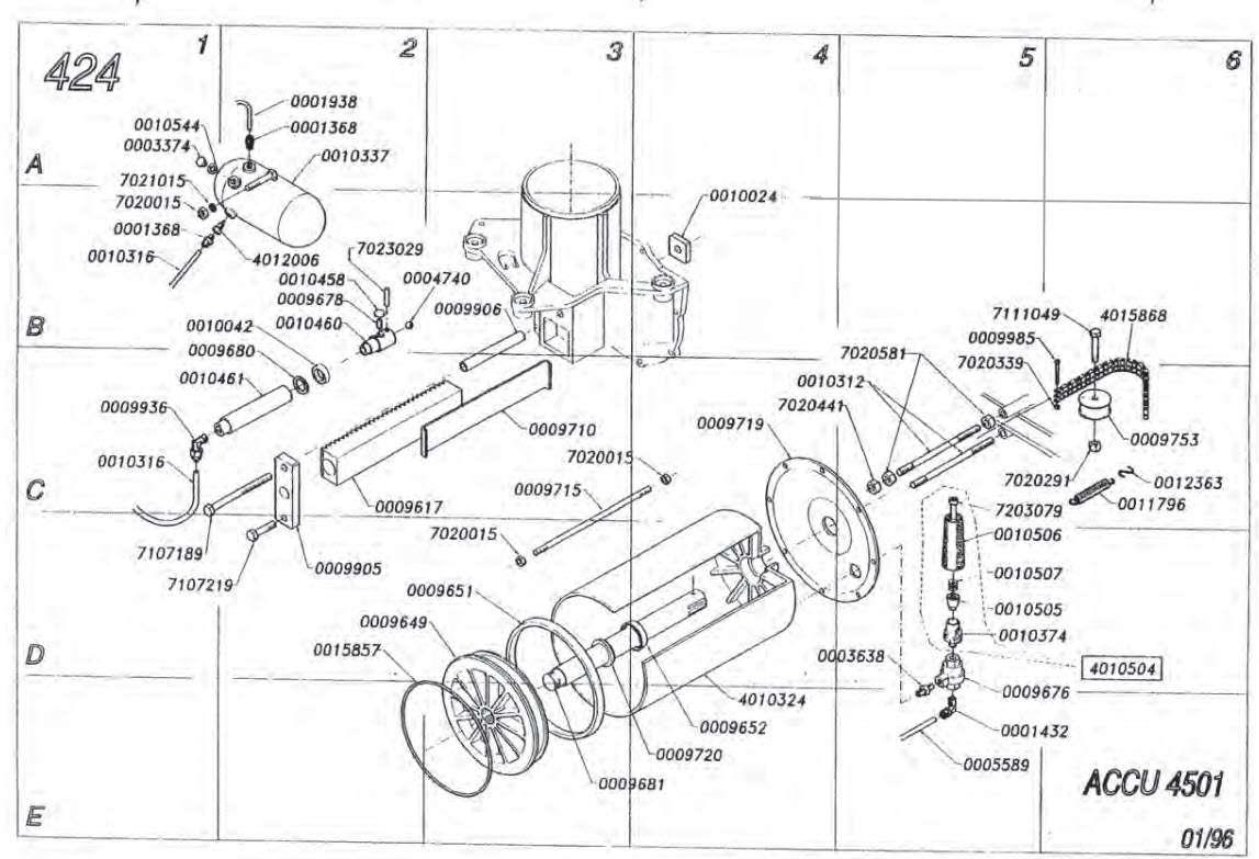 Accuturn 4501 Bead breaker parts breakdown