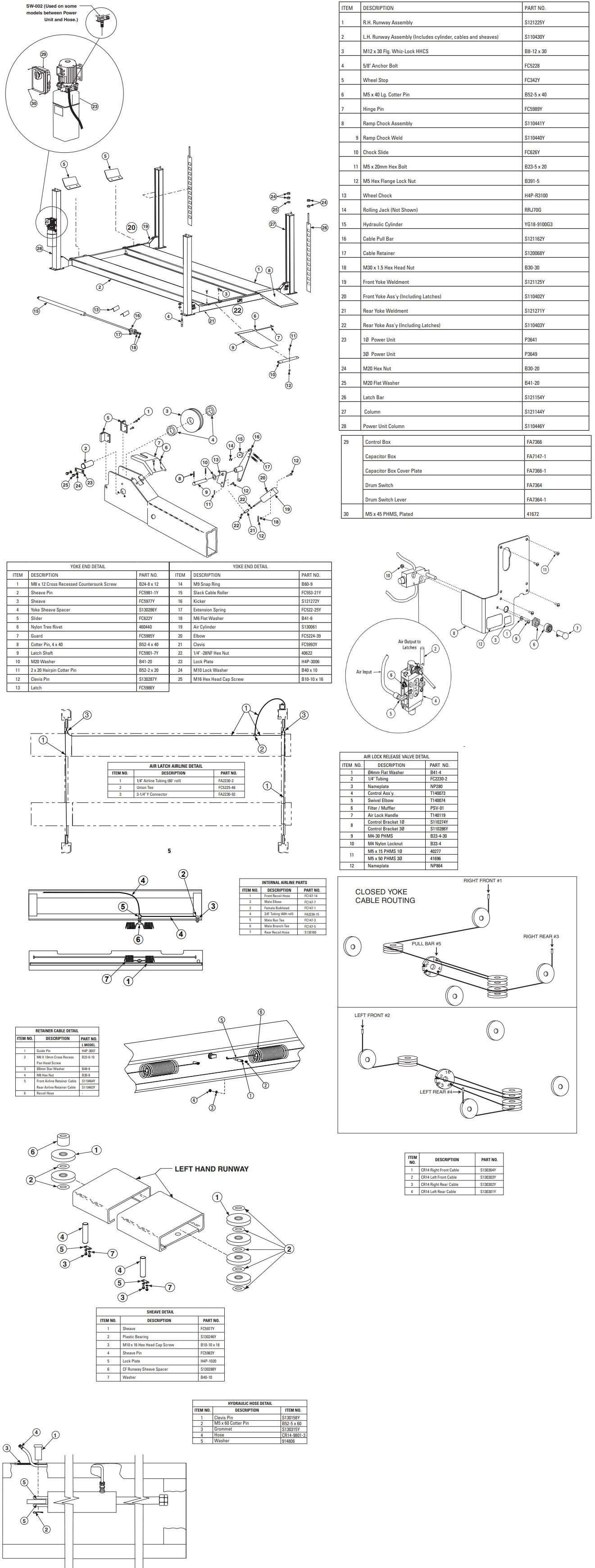 Forward 4-Post CR14 Parts Manual