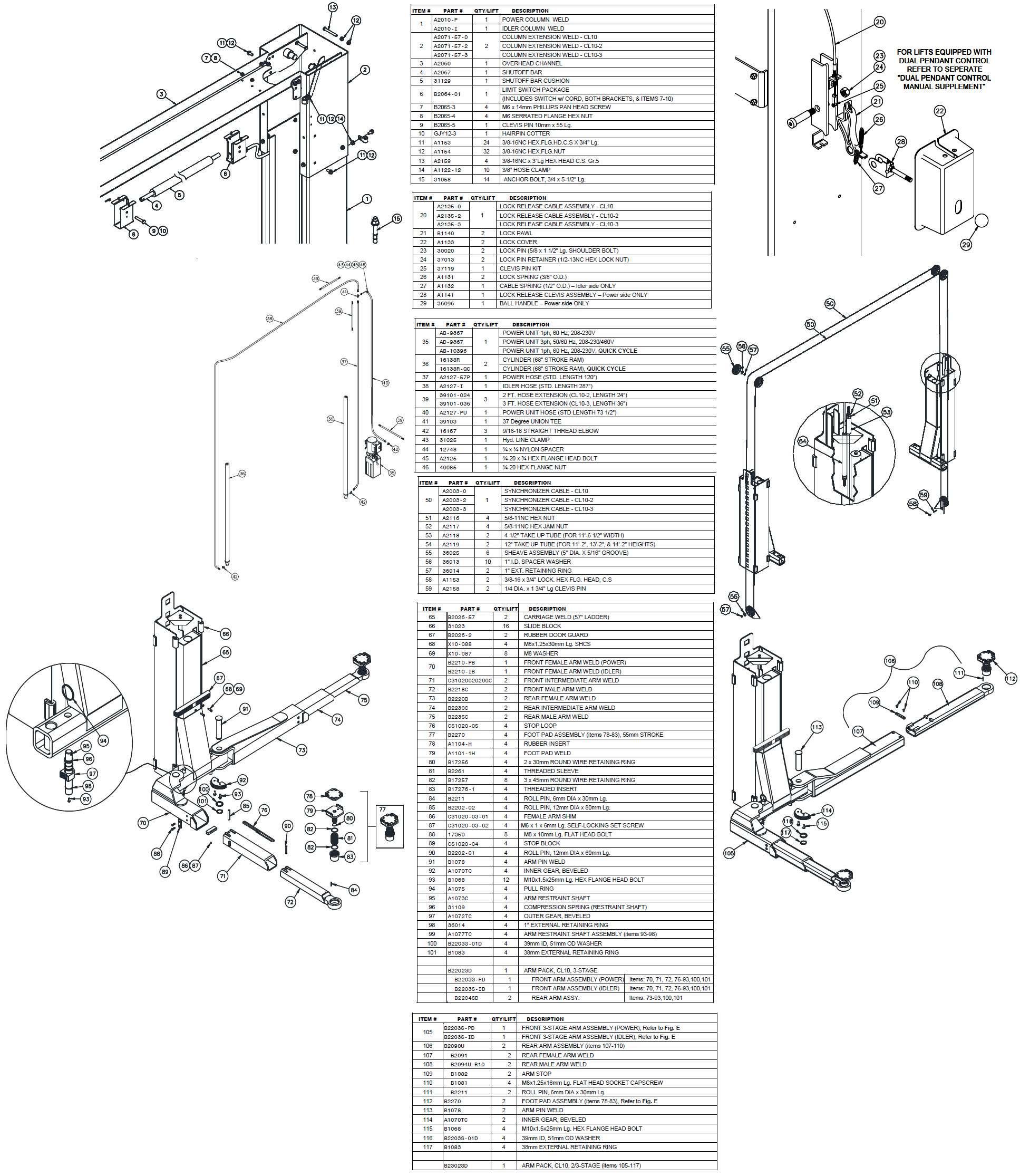 Challenger CL10 parts breakdown