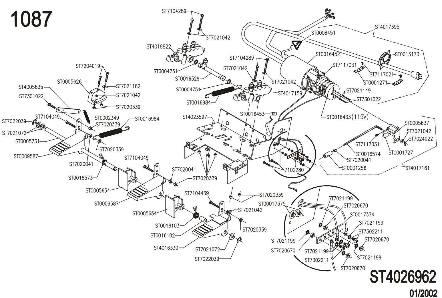 EHP SYSTEM II John Bean Tire Machine parts manual