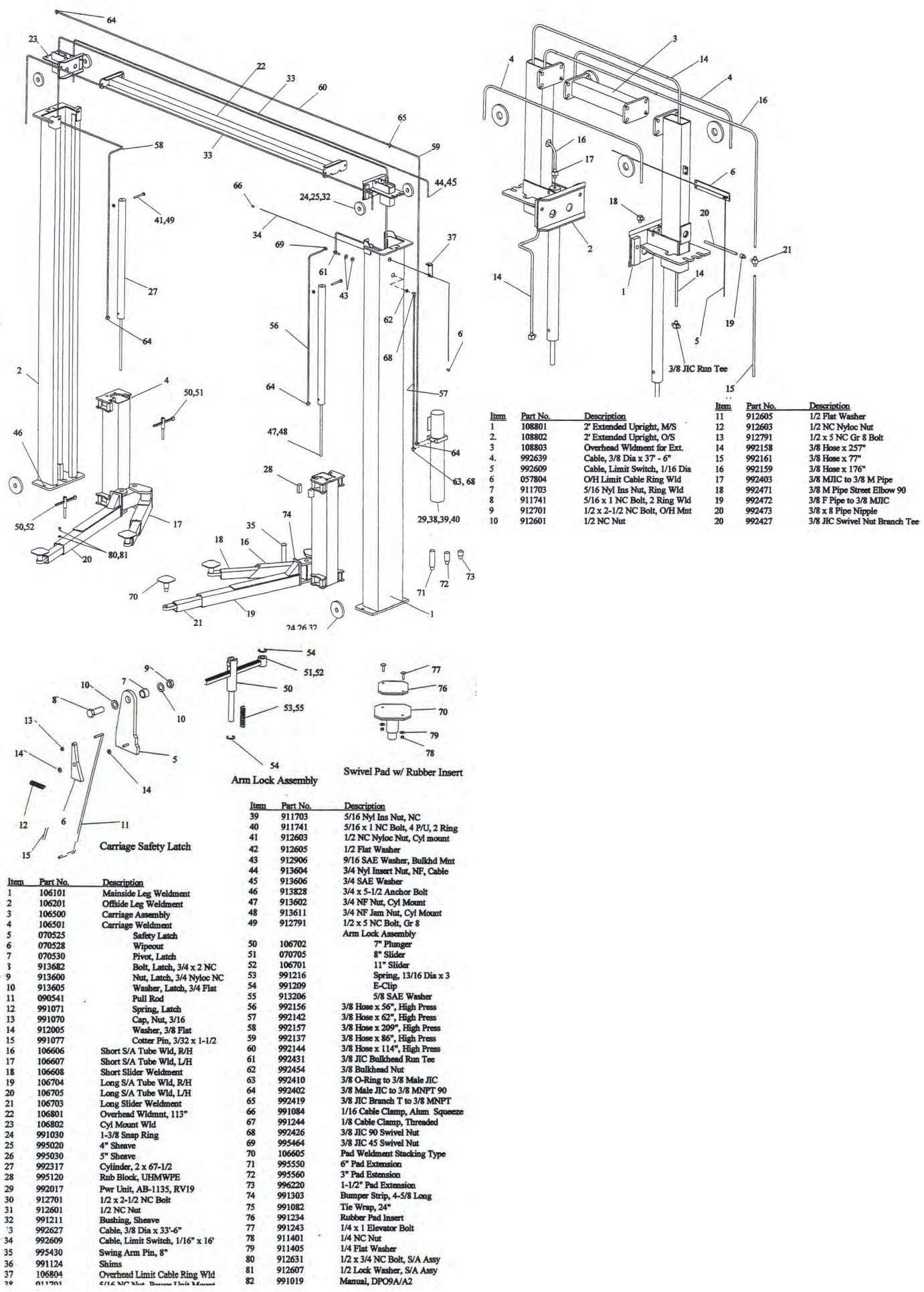 FORWARD DP97A DP97A2 DP10A DP10A2 parts manual