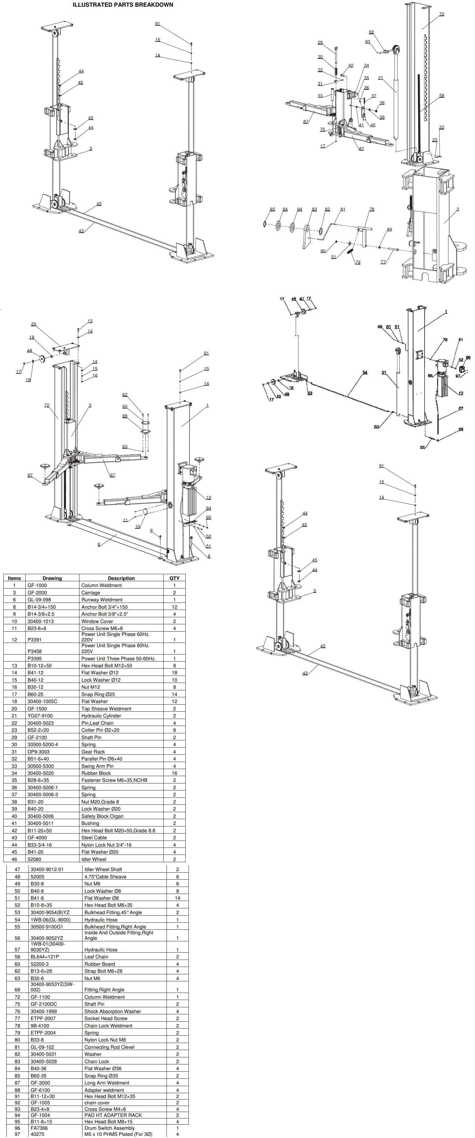 Forward BP9 Parts Manual