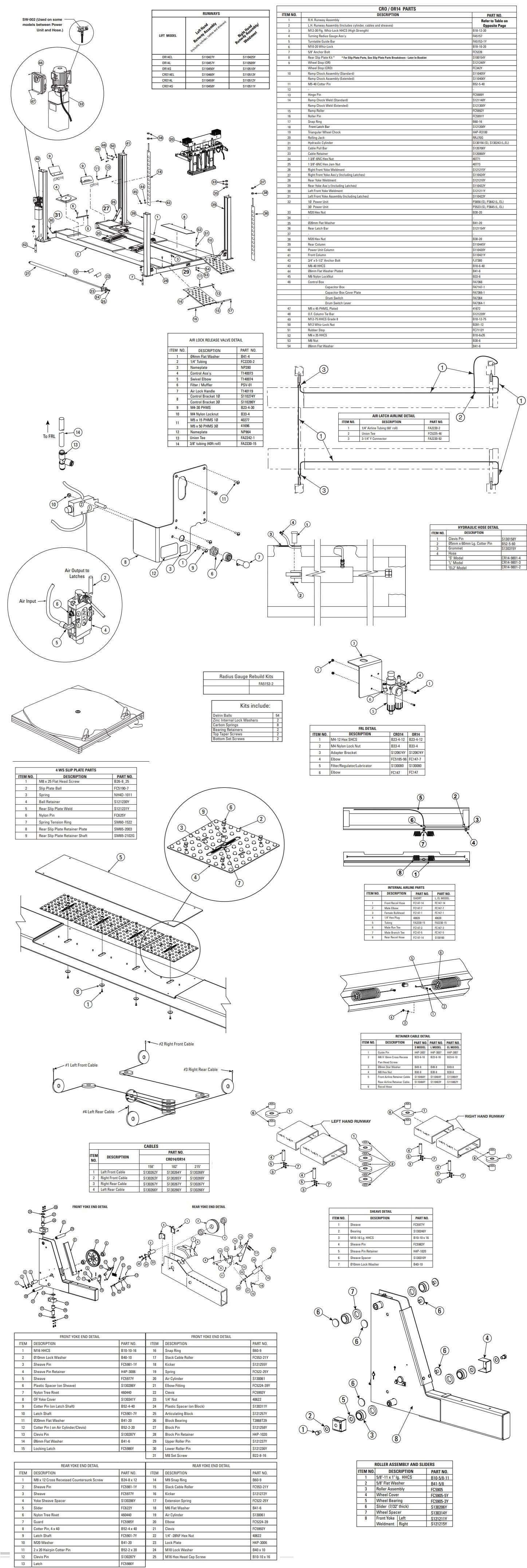 Forward 4-Post CRO14 Parts Manual