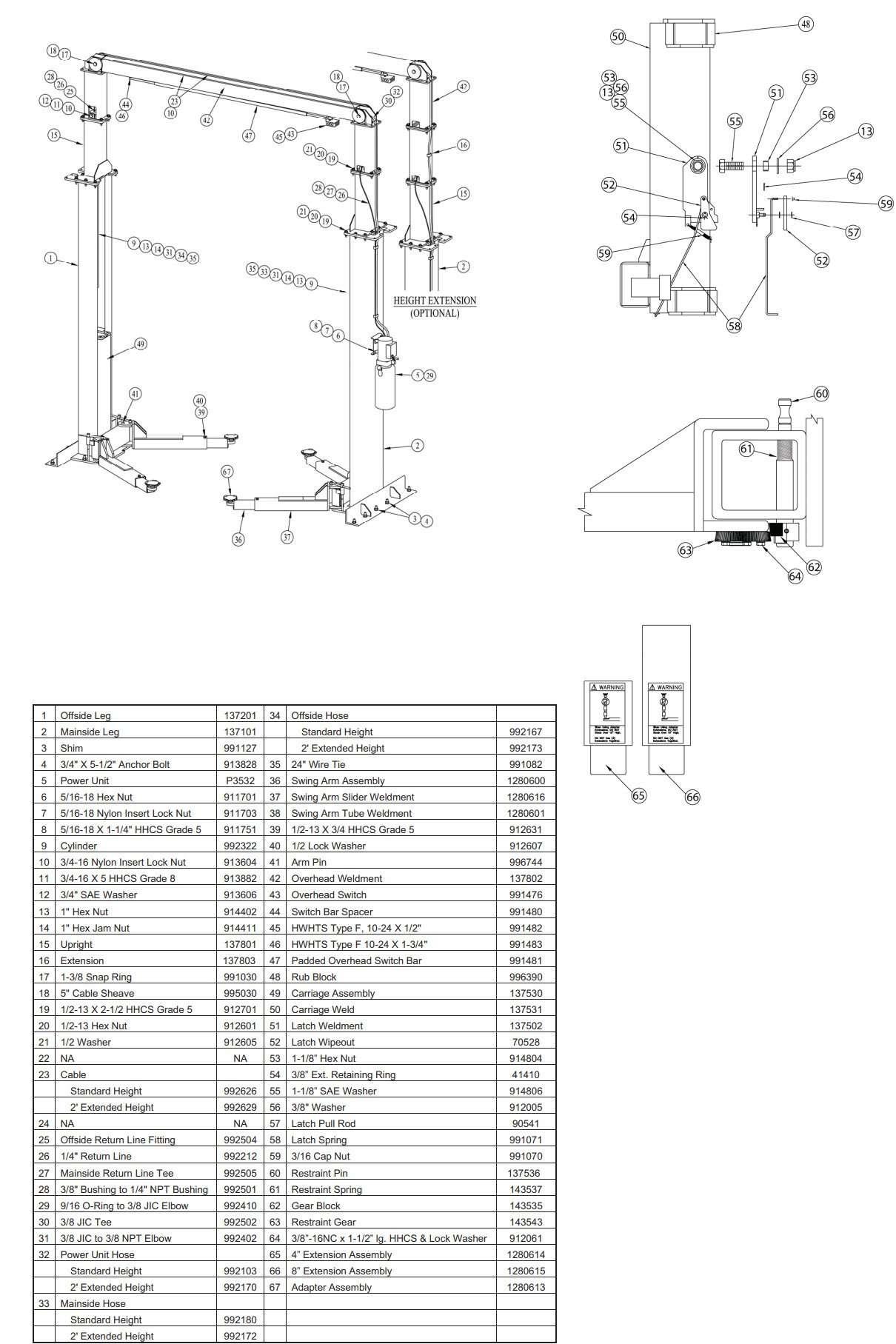 Forward DP12 Parts Manual