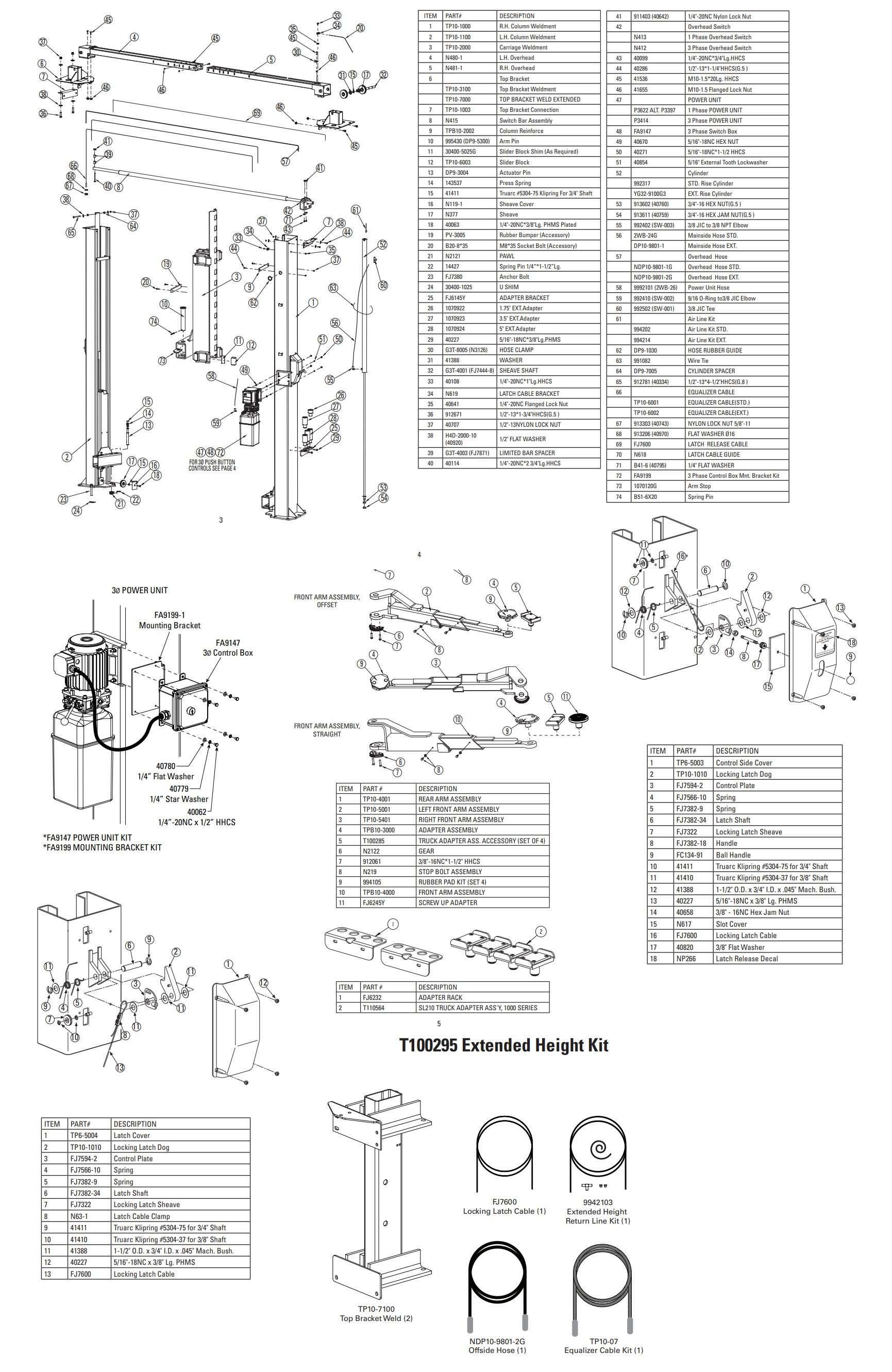 Forward F10 I10 Parts Manual