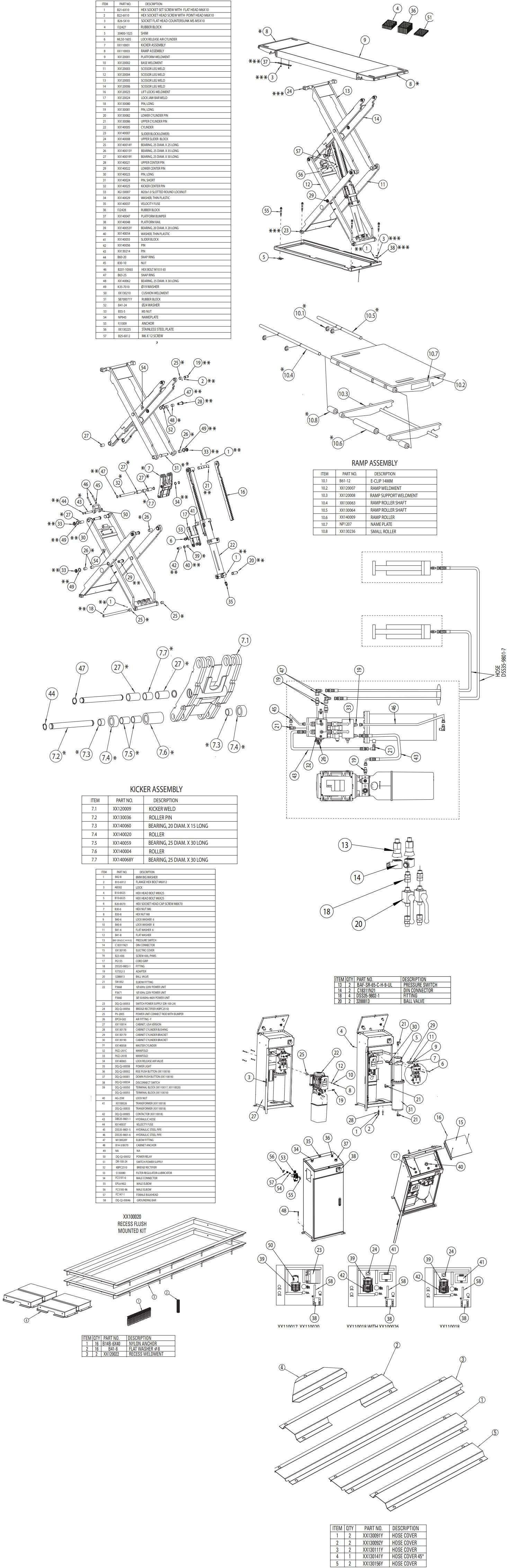Forward FS77 Double Scissor Parts Manual