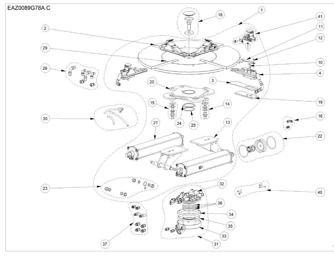 Hofmann 3300 Tire changer clamp parts
