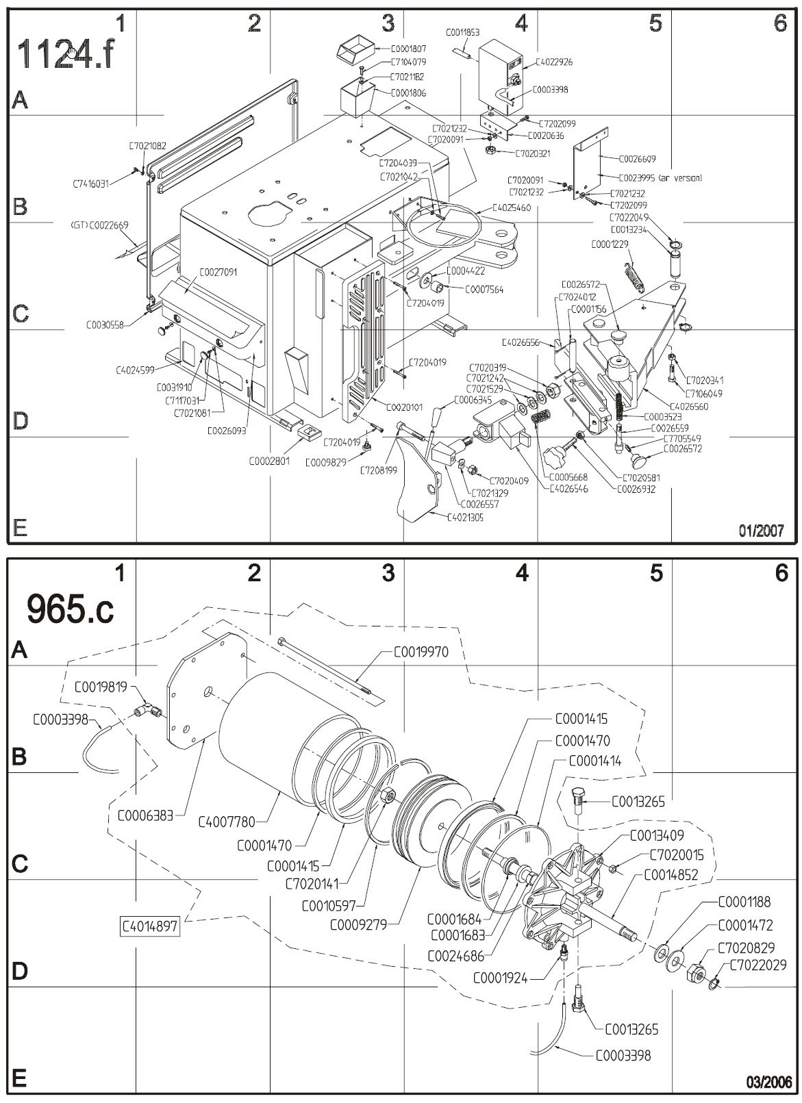 Hofmann Monty 1620 1625 bead breaker parts