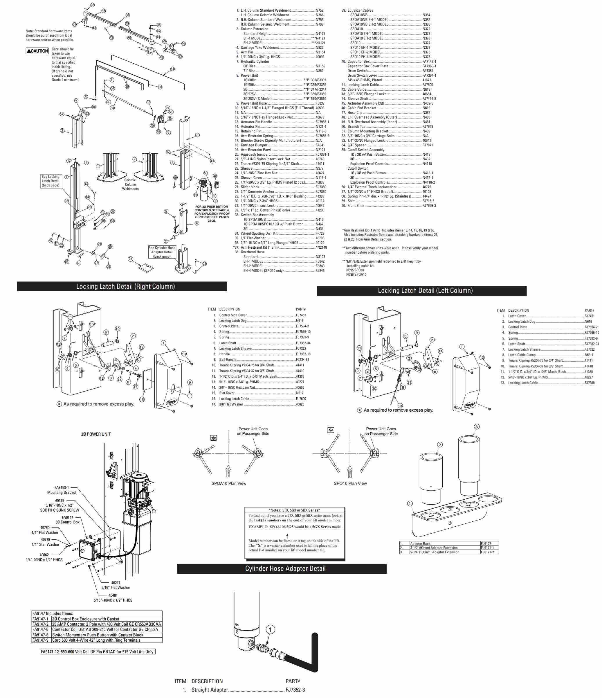 Rotary SPOA10 Parts Manual