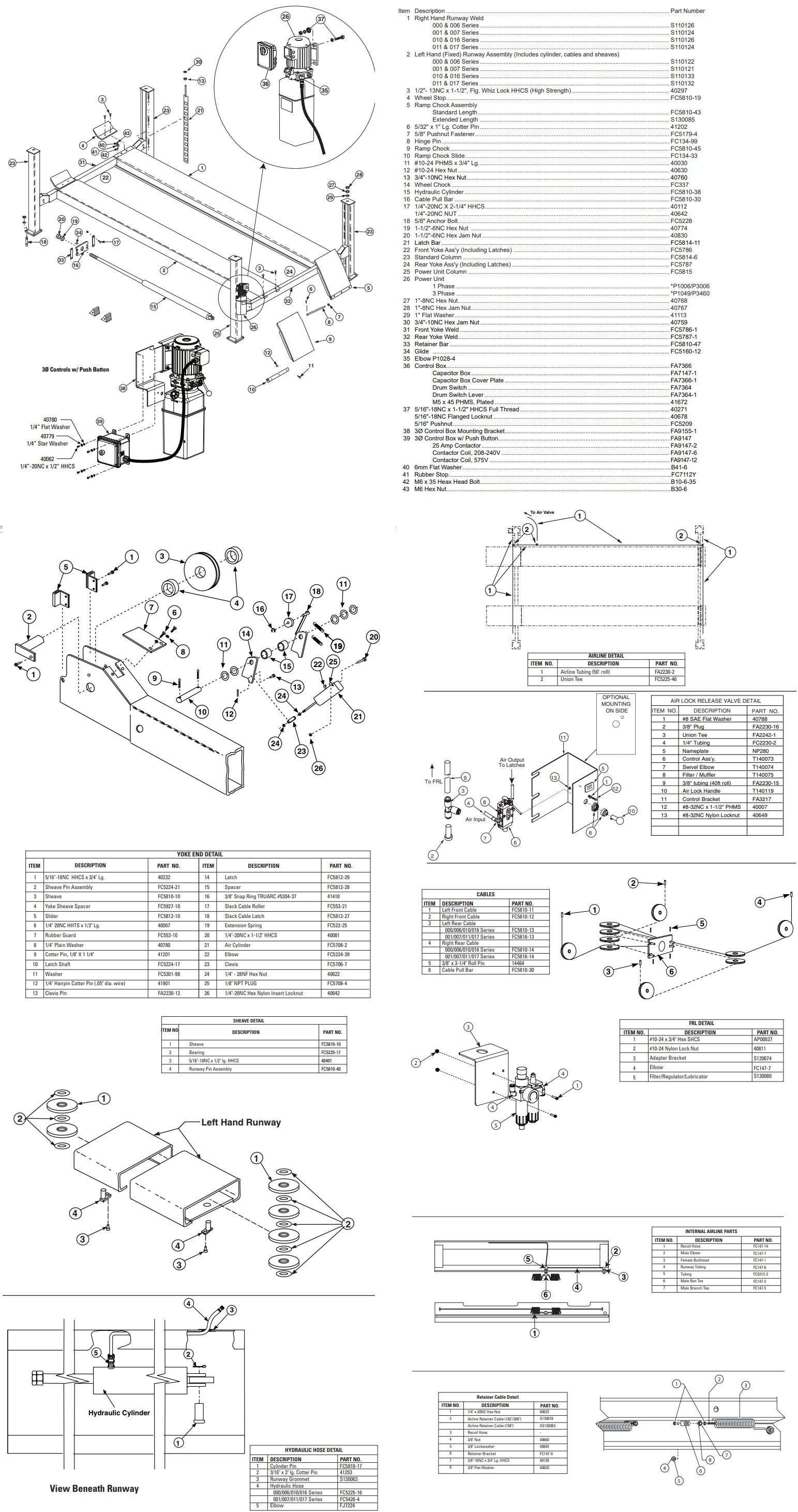 Rotary 4-post AR18 Parts Manual