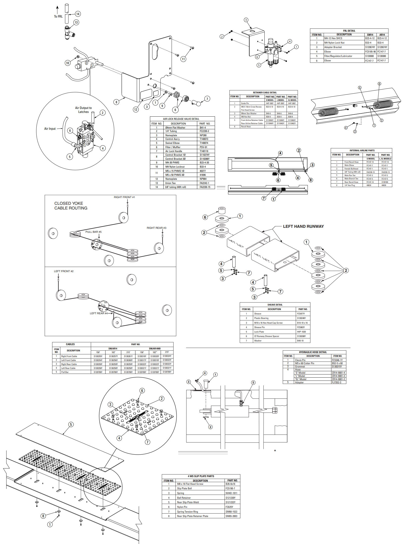 Rotary 4-post SM14 Parts Manual (Page 2/2)