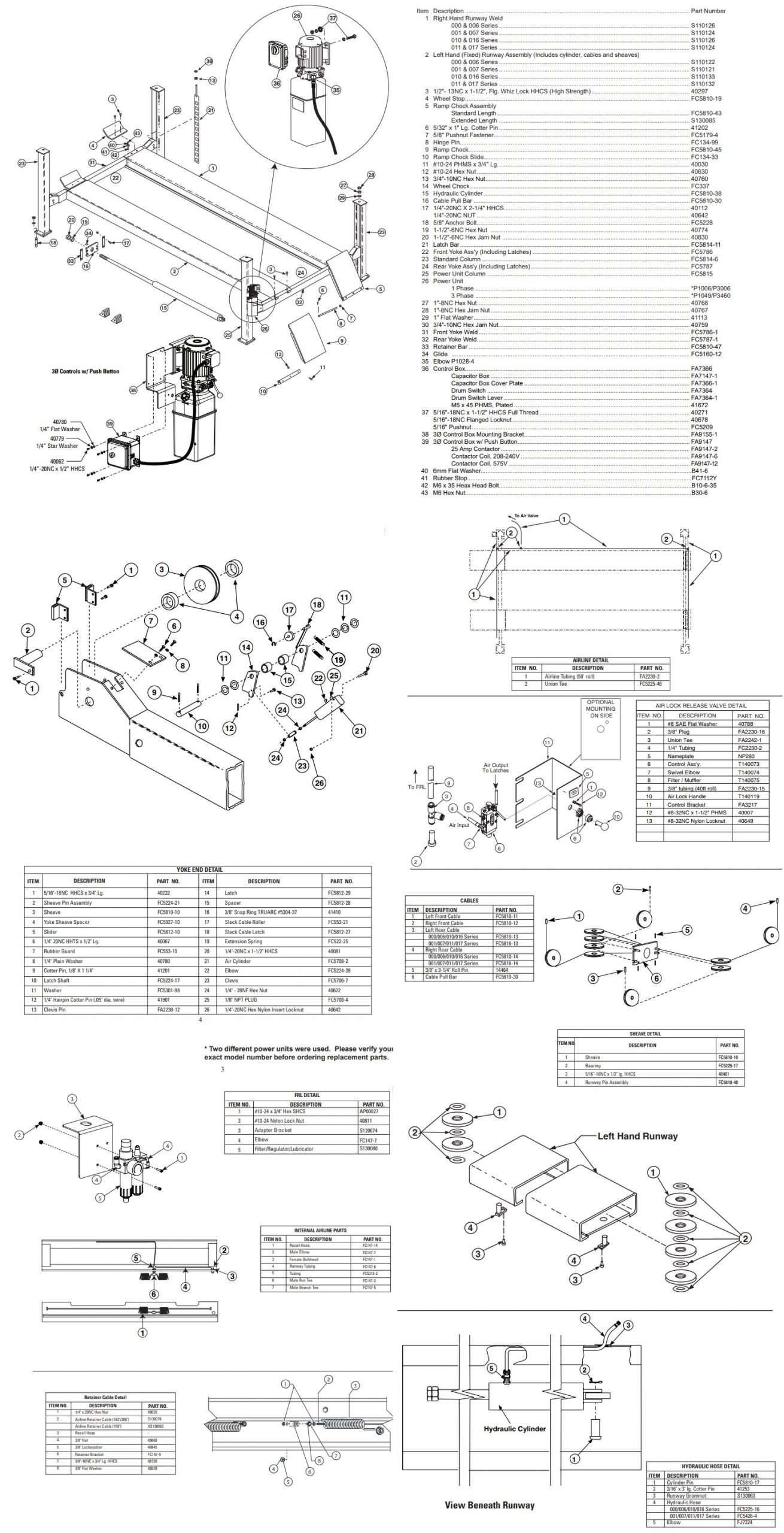 Rotary 4-post SM18 Parts Manual