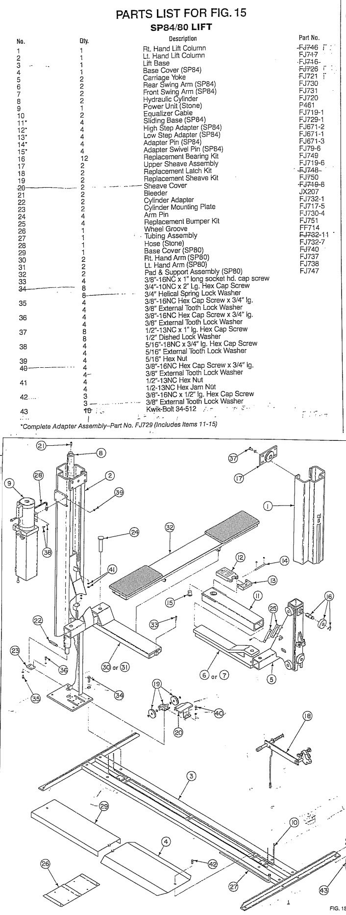 Rotary SP80/SP84 Parts Manual