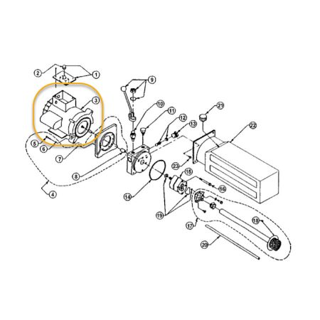 WHEELTRONIC 4 POST ELECTRIC MOTOR 230-240V SINGLE PHASE OEM 6-0773WHEELTRONIC 4 POST ELECTRIC MOTOR 230-240V SINGLE PHASE OEM 6-0773