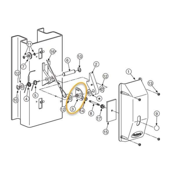 ROTARY SAFETY LATCH HANDLE PLATE ASSEMBLY FJ7594-2 (FJ7594)