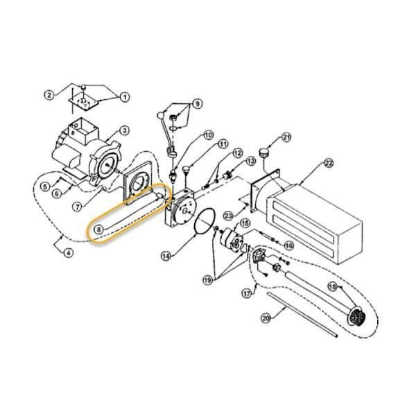 SPX / FENNER POWER UNIT MOTOR COUPLER OEM # 6-0774