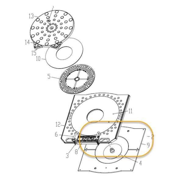 JOHN BEAN / HOFMANN TURNPLATE PAD - OEM EAM0047J52A