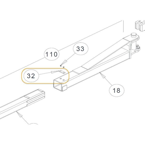 CHALLENGER ARM STOP WELDMENT 3W-04-18