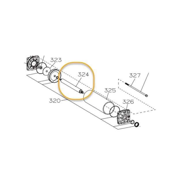 COATS TIRE MACHINE RIM CLAMP CYLINDER ROD OEM # 8181629