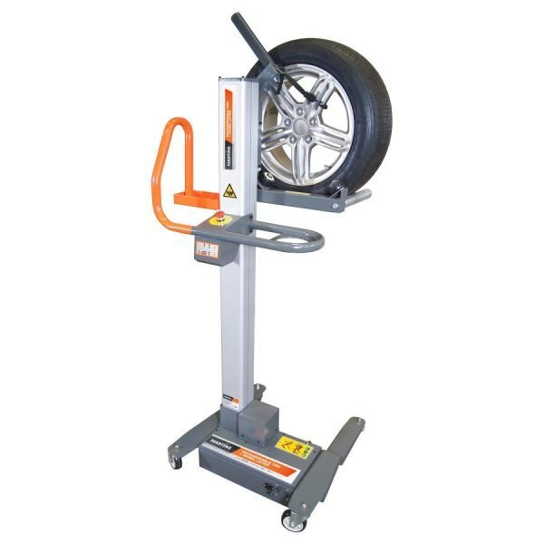 ELECTRIC WHEEL AND TIRE LIFT FOR HEAVY SUV AND LT TIRES