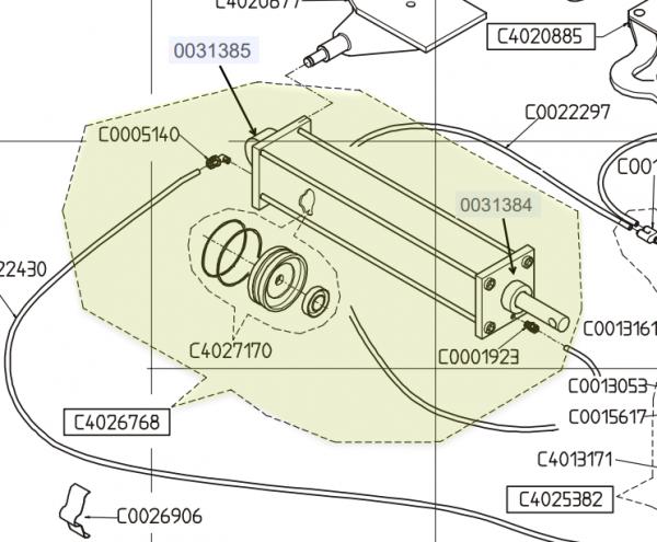 HOFMANN MONTY TABLE CLAMPING CYLINDER OEM C4026768