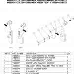 TLS419 4 POST CABLE LOCK ASSEMBLY PARTS BREAKDOWN